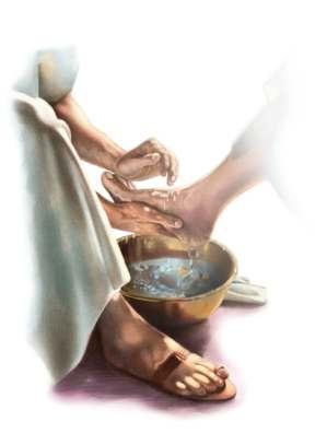 Jesus wash feet